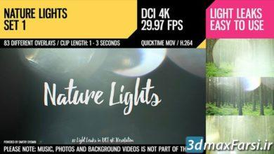 مجموعه موشن گرافیک افکت نور طبیعی Nature Lights Set 1