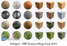 کامل ترین پکیج متریال معماری Poliigon – PBR Textures Mega Pack 2019
