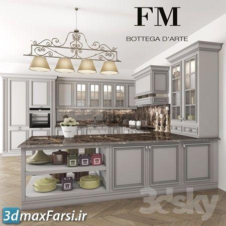 دانلود آبجکتکابینت کلاسیک Pro 3DSky - Kitchen FM Bottega London