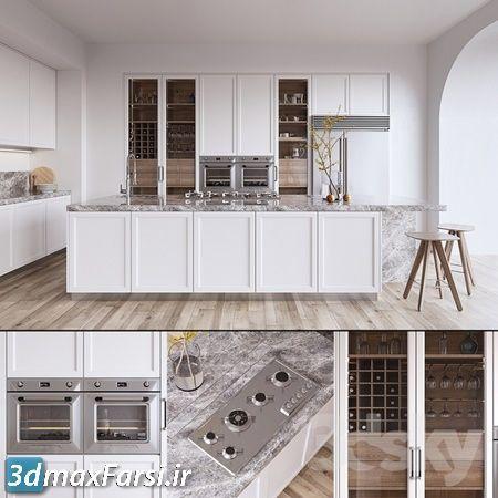 دانلود مدل سه بعدی کابینت کلاسیک Pro 3DSky - Kitchen ORIGINE Aeterna