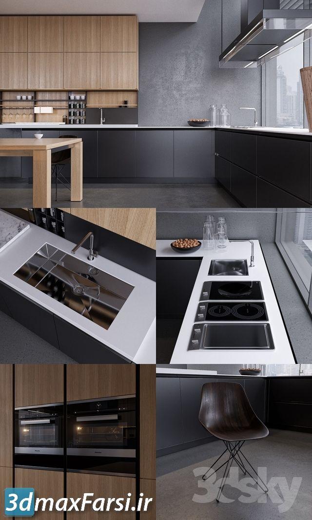 دانلود آبجکت آماده کابینت آشپزخانه Pro 3DSky - Kitchen Poliform Varenna Twelve 2