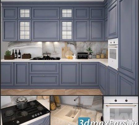 آبجکت آشپزخانه سبک اسکاندیناوی Pro 3DSky - Kitchen Scavolini Baltimora