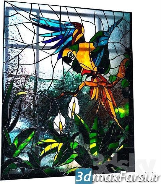 دانلود آبجکت سه بعدی پنجره کلاسیک رنگی Pro 3DSky - Stained BIRDS