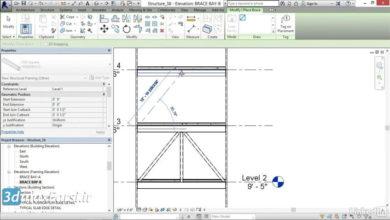 آموزش بادبند رویت استراکچر Revit Structure brace frame