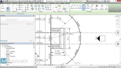 آموزش اندازه گذاری رویت استراکچر Revit Structure dimensions