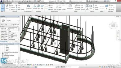 آموزش رویت استراکچر ( طراحی تیر محیطی) Revit Structure perimeter beams