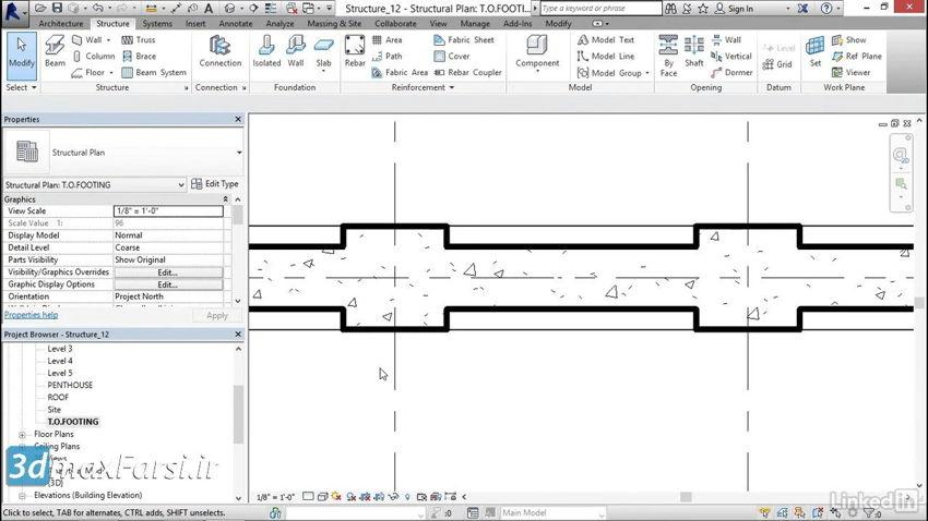 آموزش مدلسازی ستون و پایه رویت استراکچر Revit Structure piers pilasters