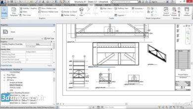 آموزش طراحی بادبند رویت استراکچر Revit Structure brace-frame