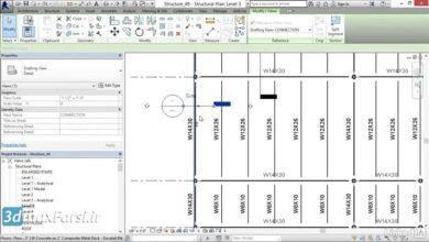آموزش وارد کردن نقشه اتوکد به رویت استراکچر Revit Structure Inserting AutoCAD