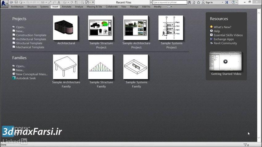 لینک کردن به فایل معماری رویت استراکچر Revit Structure Linking architecture