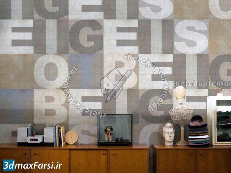 دانلود کاغذ دیواری نوشته انگلیسی و عدد (پوستر دیواری 3 بعدی)