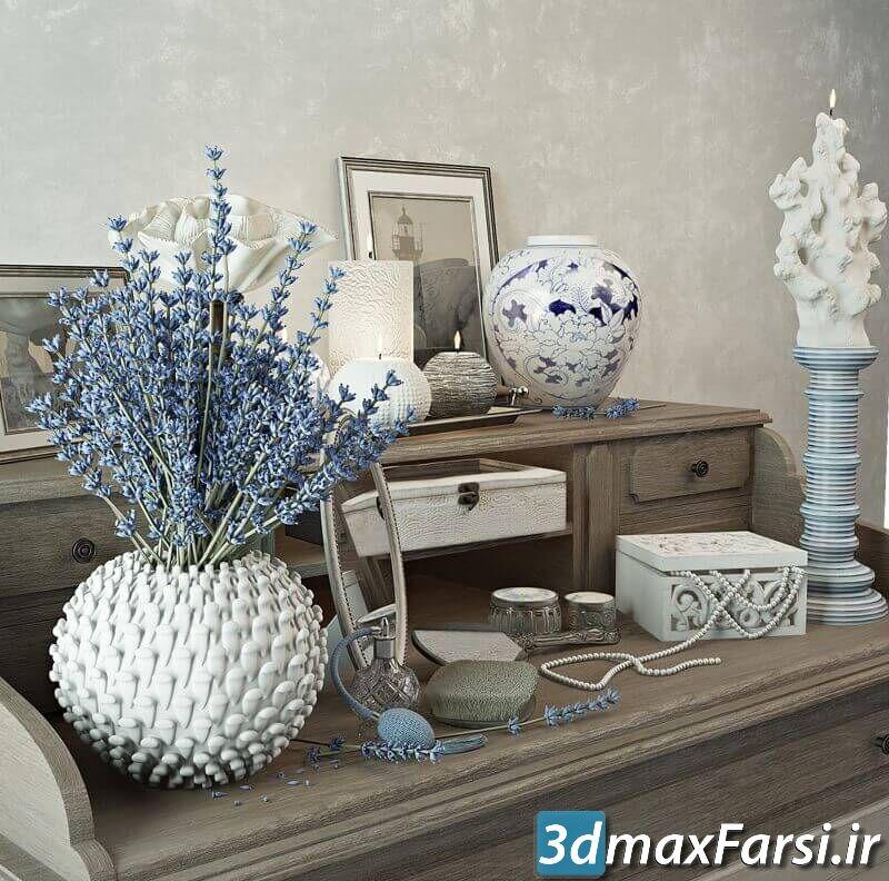 دانلود آبجکت Decorative set Zara Home Console Table 3D Model
