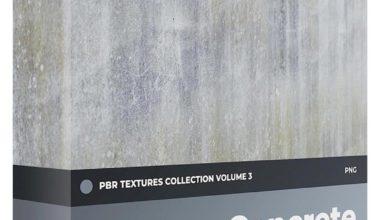 Photo of دانلود تکسچر و متریال بتن با کیفیت بالا CGAxis – Concrete PBR Textures