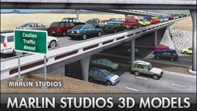 Photo of دانلود آبجکت شهر تری دی مکس Marlin Studio Premium City Models Bundle