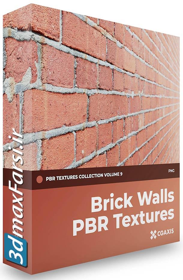 دانلود تکسچر آجر سنتی و مدرن تری دی مکس + ویری CGAxis – Brick Walls PBR Textures
