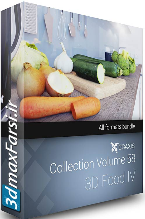 Download CGAxis Collection Volume 58 3D Food IV