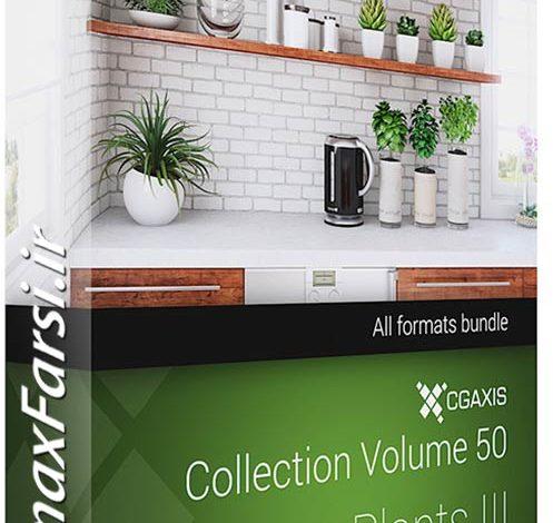 دانلود مدل گلدان های تزیینی CGAxis Models Volume 50 3D Plants