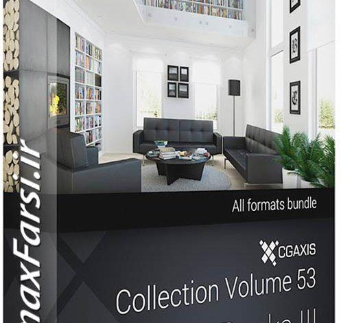 دانلود آبجکت سه بعدی قفسه کتاب CGAxis Models Volume 53 3D Books III