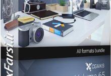Photo of دانلود مدل سه بعدی لوازم رومیزی CGAxis Models Volume 65 Gadgets II