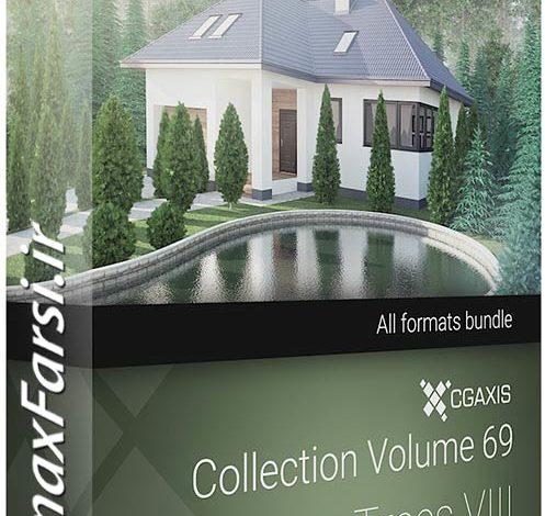 مدل سه بعدی درخت مخروطی شکل CGAxis Models Volume 69 Trees VIII