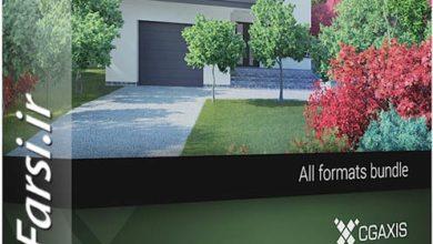 Photo of مدل های سه بعدی گیاهان خزان دار CGAxis Models Volume 72 Trees IX