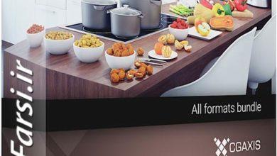 دانلود مدل سه بعدی غذا میوه سبزی CGAxis Models Volume 73 3D Food VI