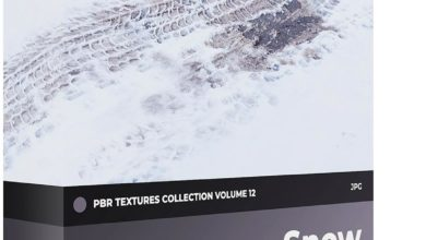 Photo of دانلود متریال برف تری دی مکس CGAxis PBR Textures Volume 12 – Snow