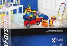 Photo of دانلود آبجکت اسباب بازی اتاق کودک Cgaxis Models Volume.040 Toys