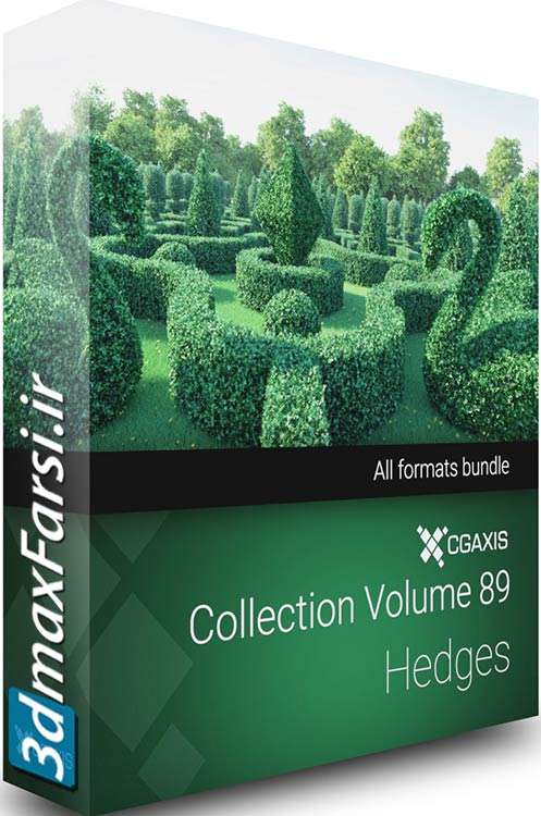 Download Cgaxis Models Volume.089 Hedges 3d vray 3ds max
