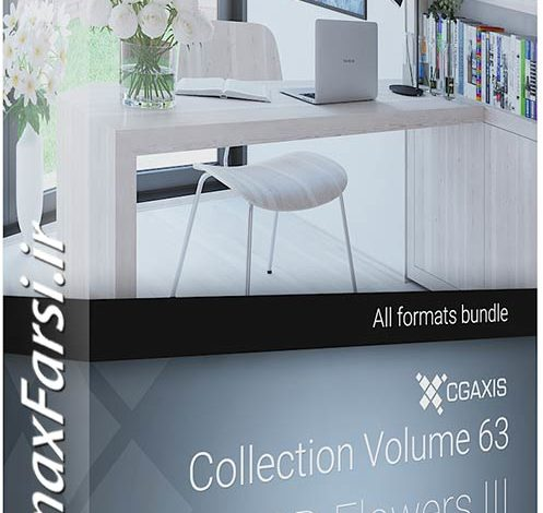 دانلود مدل سه بعدی گل گیاه CGAxis Models Volume 63 3D Flowers III