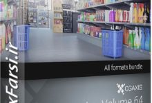 Photo of دانلود مدل سه بعدی سوپر مارکت CGAxis Models Volume 64 Supermarket III