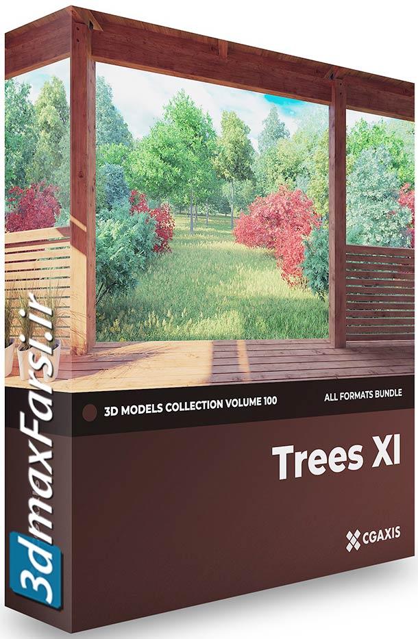 دانلود آبجکت آماده درخت Cgaxis Models Volume 100 Trees XI