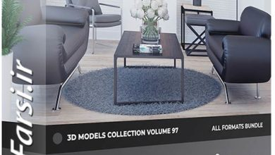 Photo of دانلود مدل سه بعدی مبلمان اتاق نشیمن CGAxis Furniture 3D Models Collection