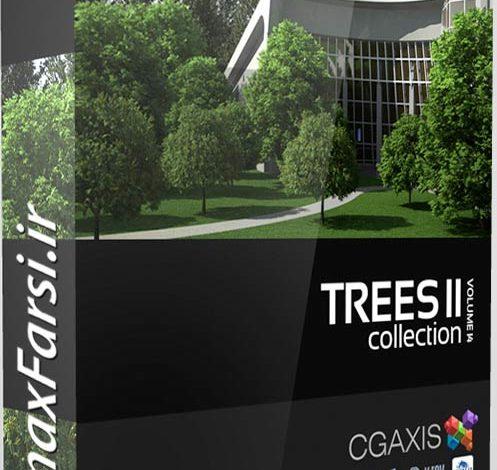 دانلود پکیج درخت سه بعدی CGAxis Models Volume 14 Trees II