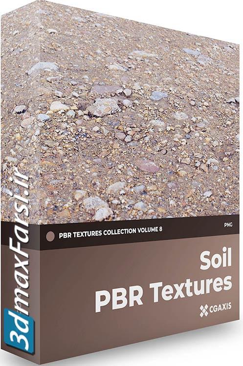 دانلود تکسچر خاک زمین و زمین رسی تری دی مکس CGAxis Soil PBR Textures Collection