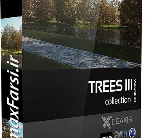 درخت سه بعدی واقع گرایانه تری دی مکس CGAxis Models Volume 28 Trees