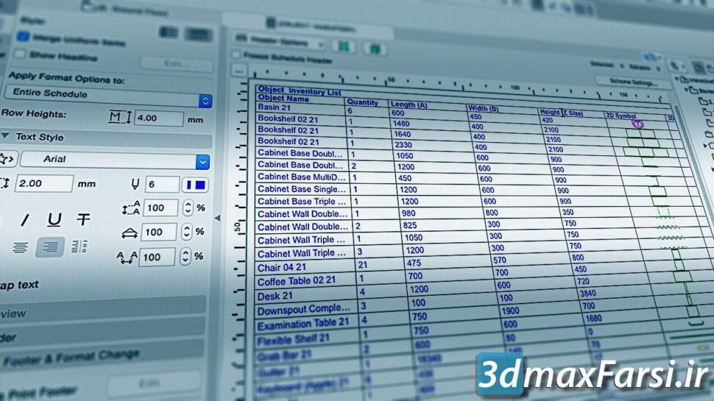 آموزش زمان بندی در نقشه های آرشیکد Pluralsight - Scheduling in ARCHICAD Download