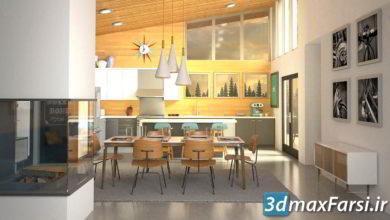 Photo of آموزش رندر دکوراسیون داخلی تری دی مکس ویری 3ds Max . V-Ray: Interior Lighting . Rendering