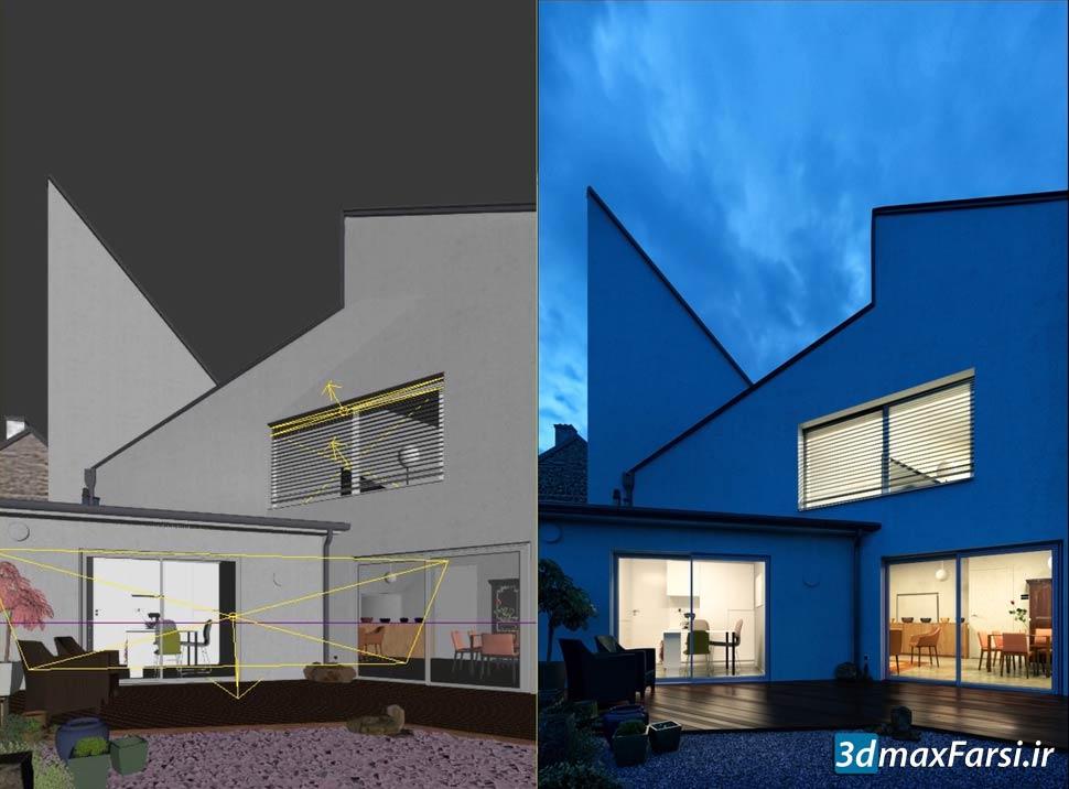 آموزش گام به گام رندر خارجی Skillshare – Step By Step Photo-Realistic Exteriors: 3ds Max + Vray