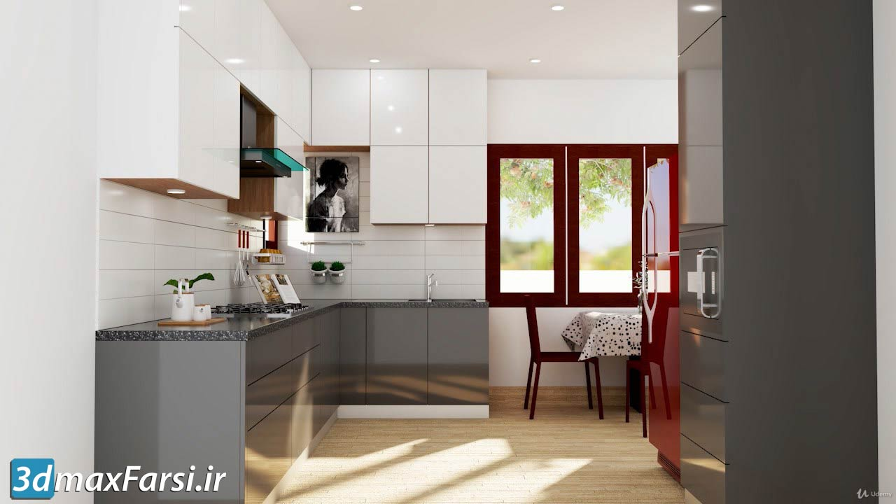 Vray Next Sketchup 2019 Creating A Kitchen For Beginners 3dmaxfarsi