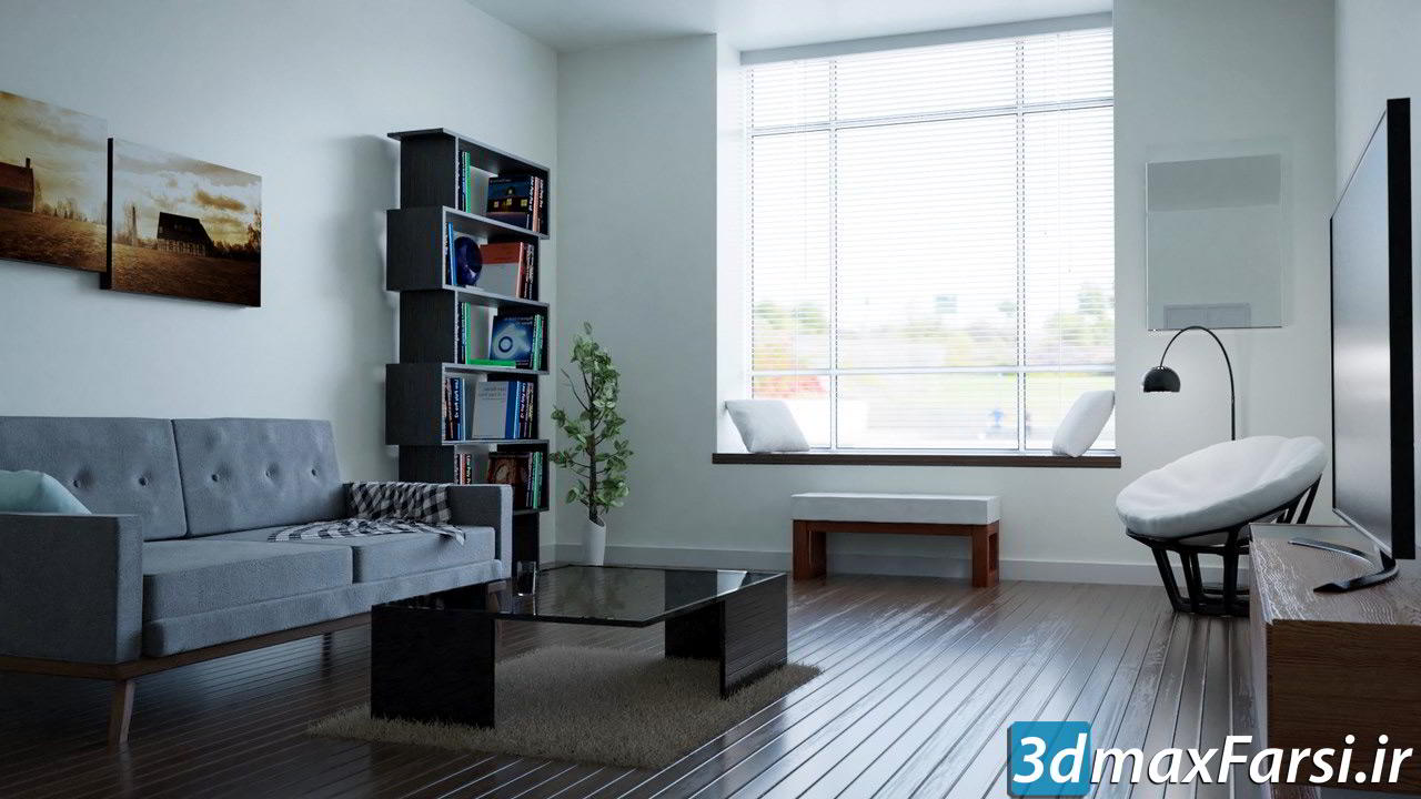 دانلود فیلم آموزش طراحی معماری و رندر بلندر : Create & Design a Modern Interior in Blender
