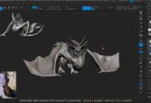 Photo of آموزش اسکالپتینگ اژدها در نرم افزار زیبراش Creature character concept sculpting