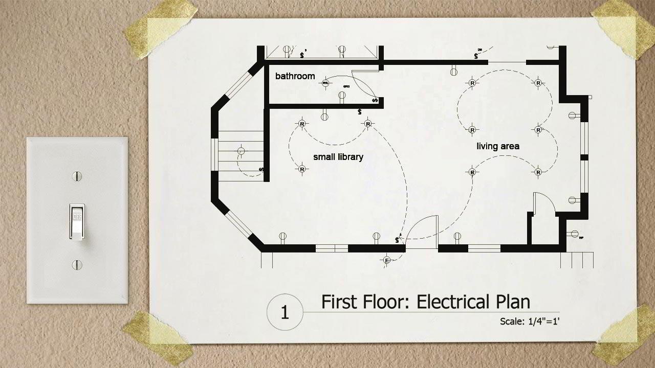 آموزش نقشه کشی برق اتوکد Drawing Electrical Plans in AutoCAD