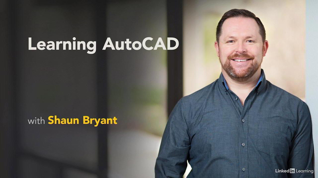 آموزش نقشه کشی اتوکد linkedin Learning AutoCAD 2021