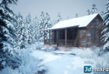 Photo of آموزش طراحی پروژه آنریل انجین:صحنه برفی Snowy Game Environment Creation