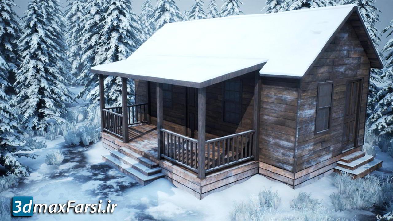 دانلود آموزش Udemy - Realistic Snowy Game Environment Creation