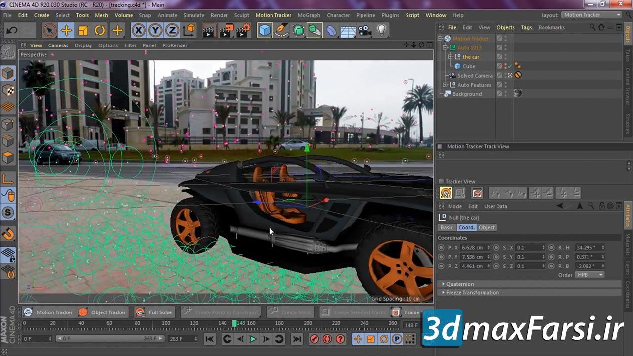 آموزش موشن ترکینگ سینمافوردی Skillshare – Motion Tracking in Cinema 4D (R20/ R21): Bring Your 3D Objects To Life