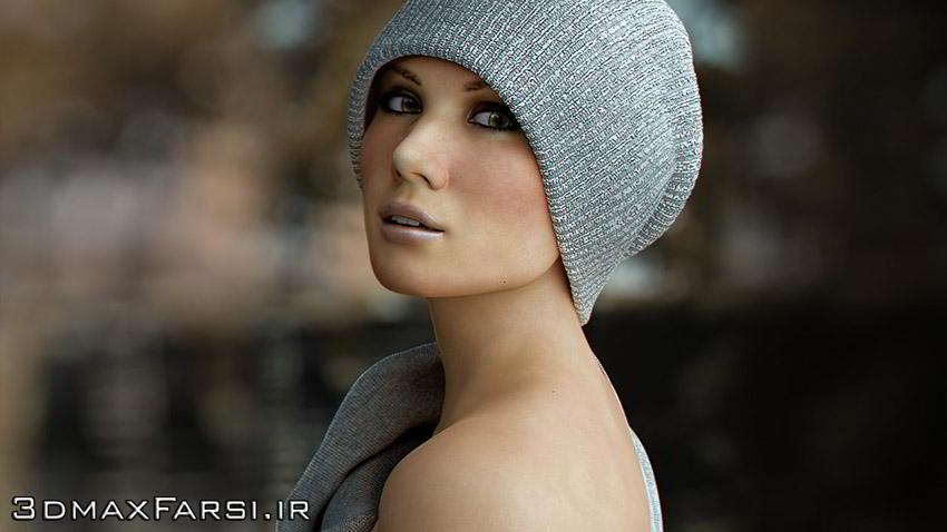 آموزش طراحی کاراکتر تری دی مکس + زیبراش Rendering a Photorealistic Female 3ds Max