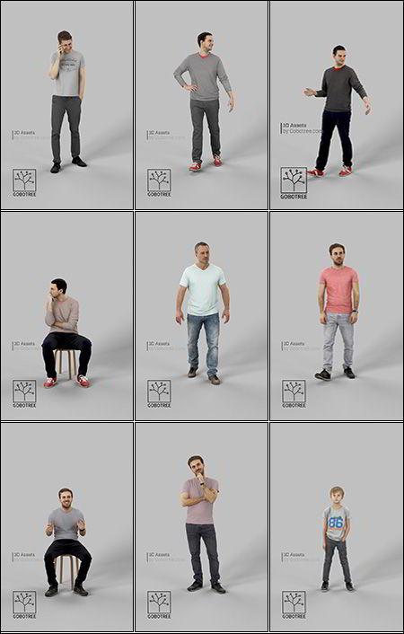 دانلود 82 پرسوناژ انسان Gobotree – 82 People 3D-Models