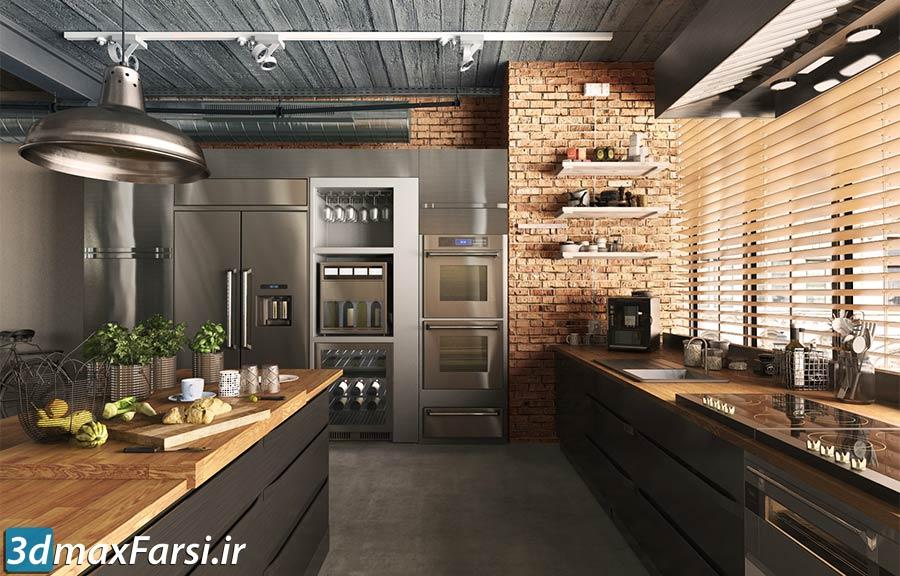 لوازم آشپزخانه مدرن مدرن تری دی مکس Evermotion - Archmodels Vol 180